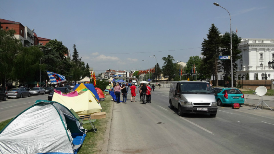 demonstraties in skopje