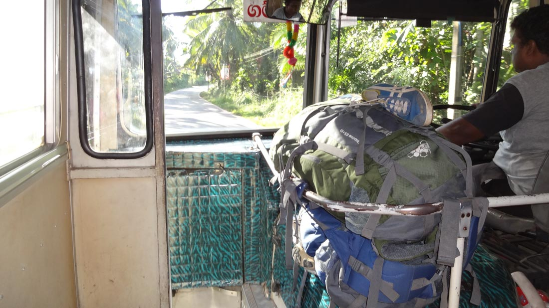 Backpacken Sri Lanka. Reizen met de bus in Sri Lanka