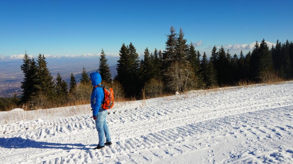 Wintersport in Bulgarije. Mount Vitosha, Sofia