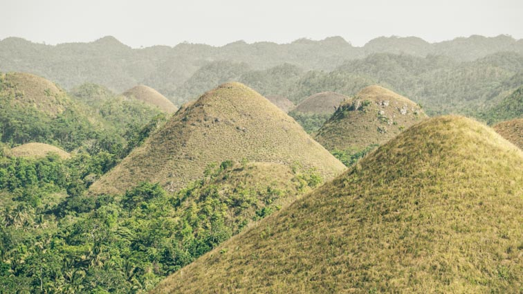 Chocolate Hills Bohol, de Filipijnen
