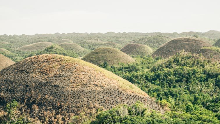 Chocolate Hills Bohol de Filipijnen