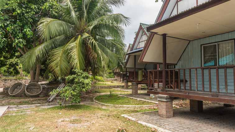 Koh Tao Garden Resort Review. Bungalows bij de haven van Koh Tao. Huisjes