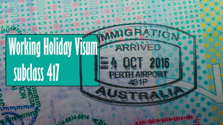 Australisch Working Holiday Visum. subclass 417