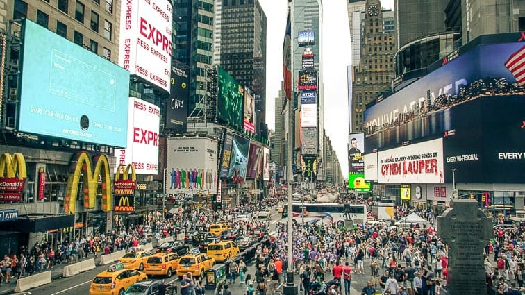 Times Square. Doen in New York
