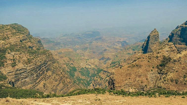 Backpacken in Ethiopië. Simien Mountains nationaal park