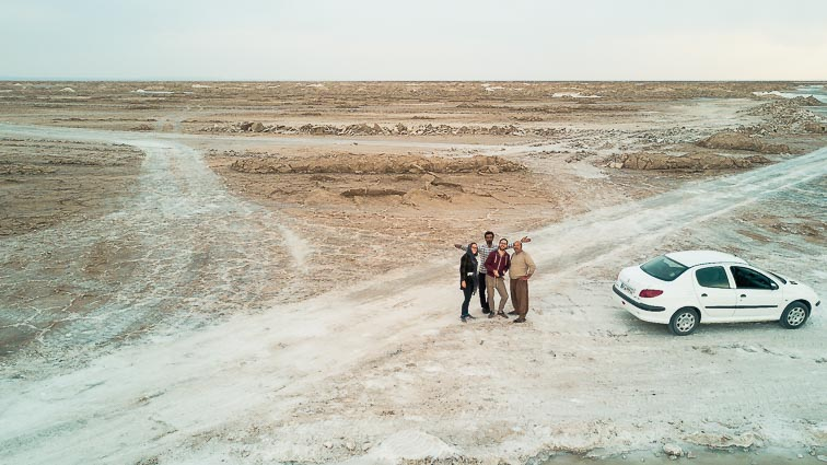 Roadtrip door Iran: Varzaneh zoutmeer