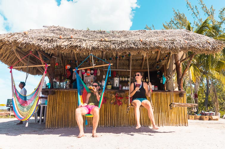 Beach clubs Isla Holbox