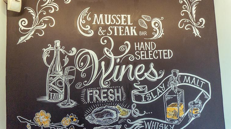 Eten en drinken in Edinburgh: The Mussel and Steak Bar
