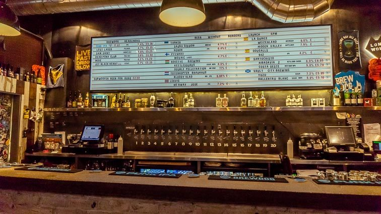 Eten en drinken in Edinburgh: Brewdog Edinburgh
