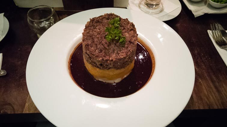 Eten en drinken in Edinburgh: Haggis eten in Edinburgh