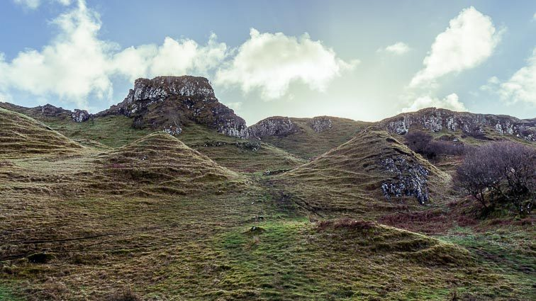 Fairy Glen, Isle of skye Schotland