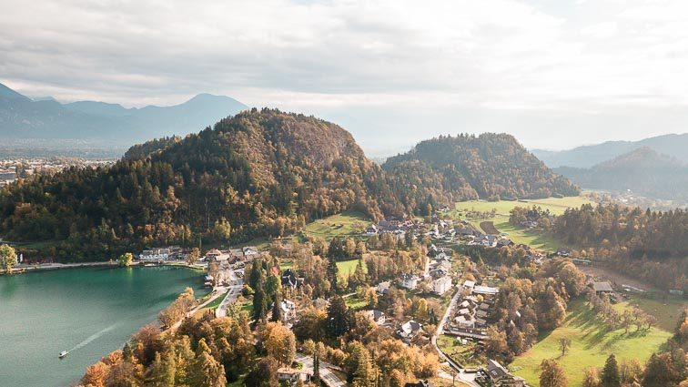 Lake Bled dronefoto