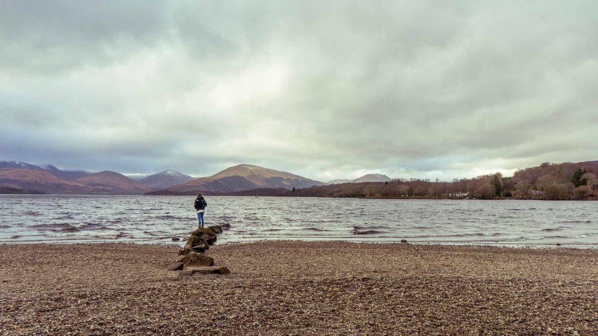 Loch Lomond en Trossachs National Park in Schotland