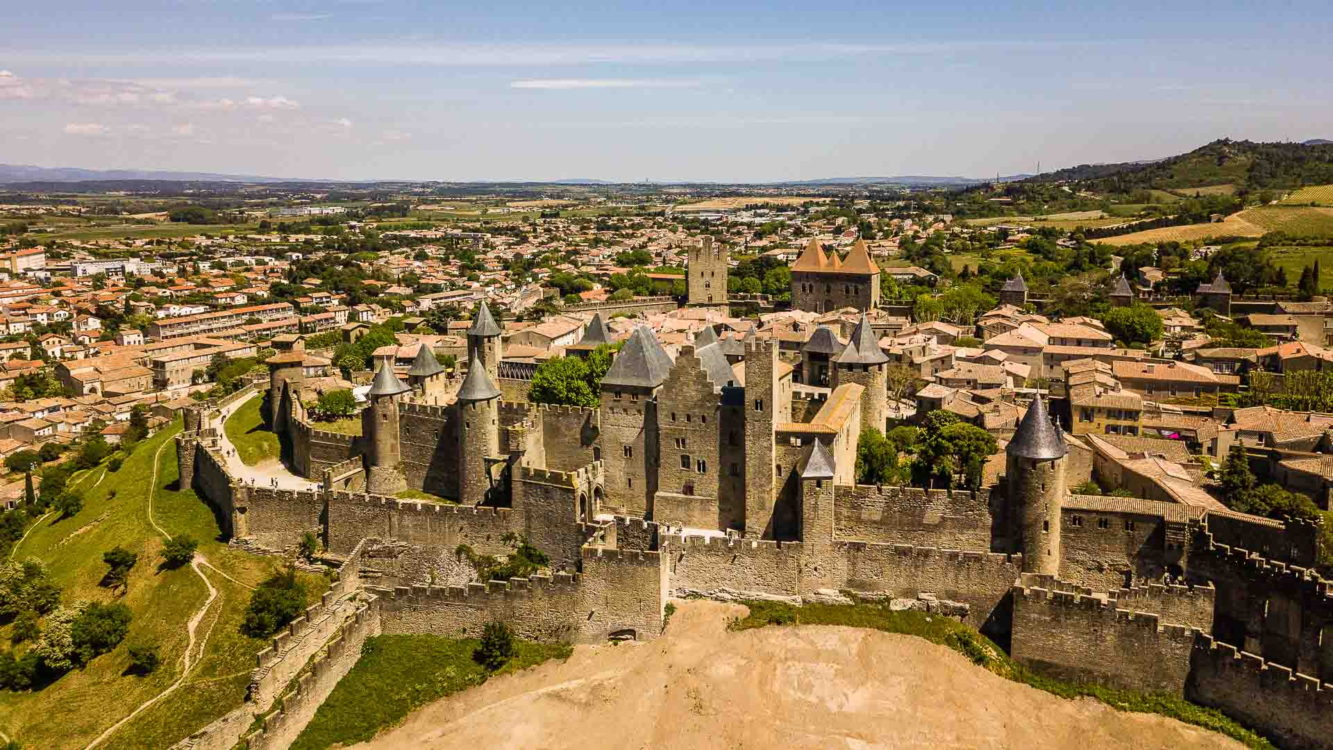 Carcassonne drone